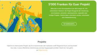Margot Keist (rechts) und Marietta Sutter präsentierten die neue Gönnerplattform der Brugger Energieversorgerin IBB. Screenshot von der Website.