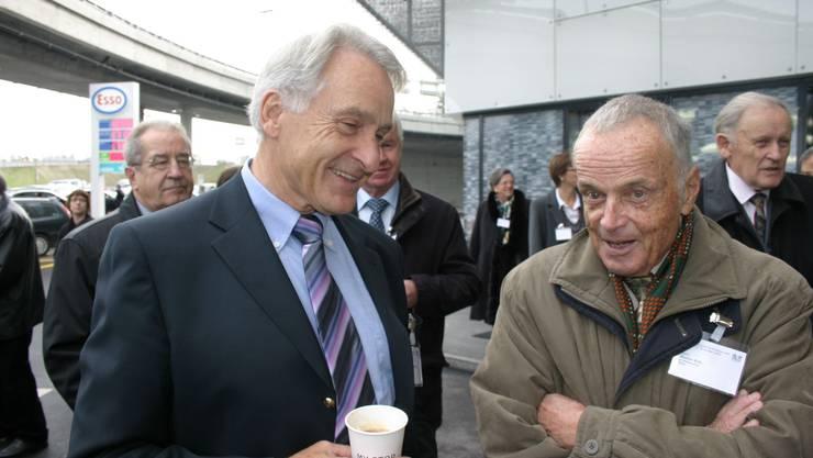 Alt Nationalrat Rolf Hegetschweiler und alt LdU-Nationalrat Walter Biel. (Bild Werner Schneiter)