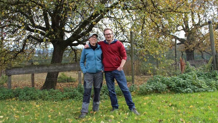 Die Fondlihof-Bewirtschafter Tina Siegenthaler und Finn Thiele werden den Hof zum Jahreswechsel ganz übernehmen.