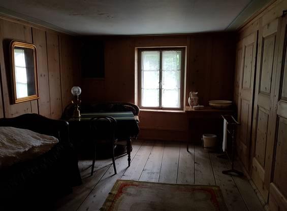 Nietzsches Kammer im ersten Stock des Nietzsche-Hauses in Sils-Maria.
