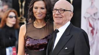 Medienunternehmer Rupert Murdoch ist weiterhin im Geschäft, gab im April 2017 aber die Trennung von seiner gut 40 Jahre jüngeren Frau Wendi bekannt. (Archivbild)