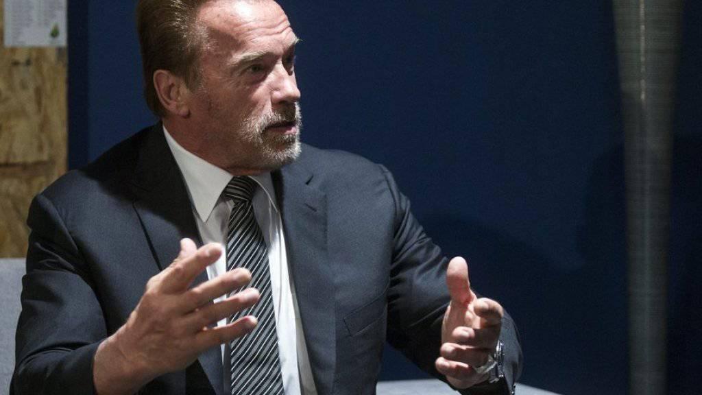 Arnold Schwarzenegger wirbt in Paris für eine fortschrittliche Umweltpolitik (Archiv)