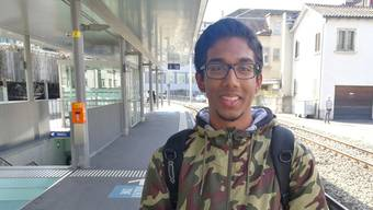 Mathes Vijayachandran (16), Reinach, Schüler.