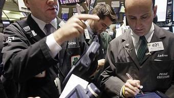 Angeregtes Gestikulieren: Händler an der US-Börse in New York (Archiv)