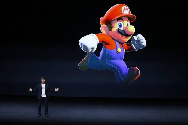 Unter anderem wird es eine Super Mario-App geben – dies verkündete Überraschungsgast «Super Mario»-Erfinder Shigeru Miyamoto.