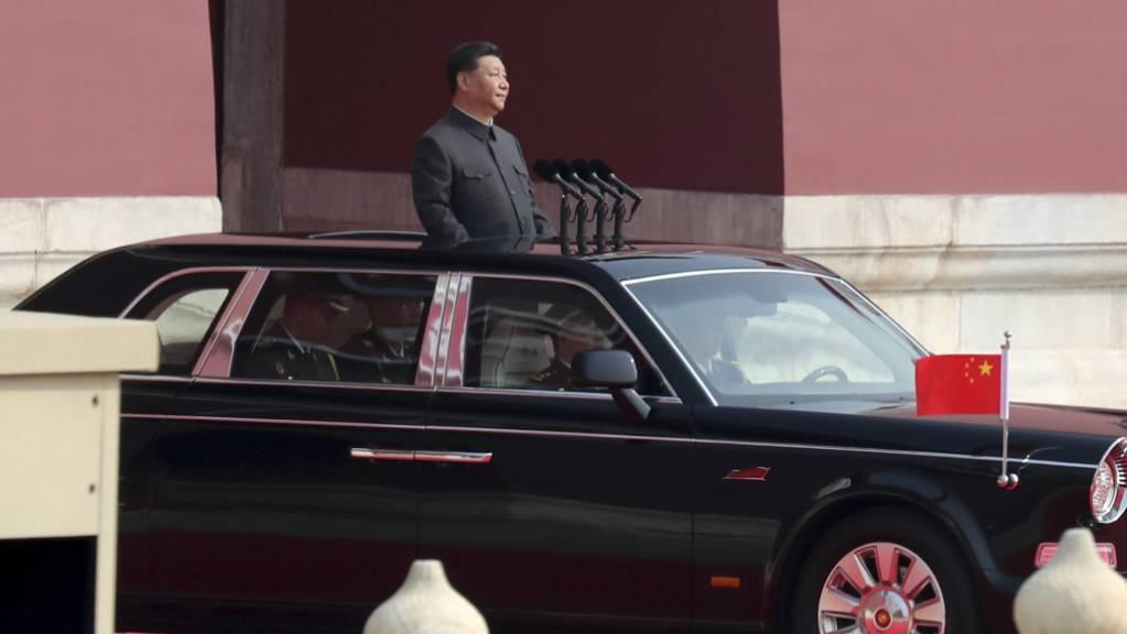 Staats- und Parteichef Xi Jinping wird am Dienstag in China zum Nationalfeiertag als unangefochtener Führer des Milliardenvolkes gefeiert.