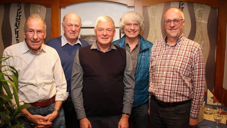 Von links nach rechts: B.Marending, H.Spielmann, H. Kyburz, G.Meier, M.Mani