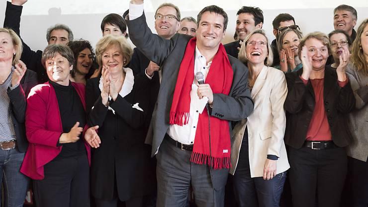 Die Linke jubiliert, nachdem das Volk die Unternehmenssteuerreform III im Februar 2017 bachab geschickt hat. Solche Bilder will der Bundesrat bei der Neuauflage vermeiden. (Archivbild)