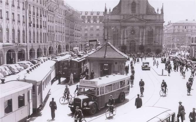 Bis 1965 fuhr die Bahn direkt auf den Bahnhofplatz in Bern.