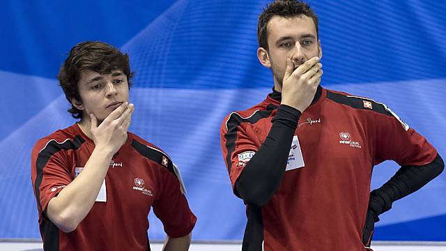 Ratlosigkeit im Schweizer Team: Benoît Schwarz (links), Jan Hauser