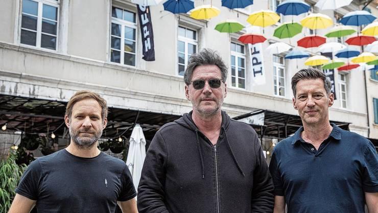 Von links: Remo Buess, Festivaldirektor, Marco Grob, künstlerischer Direktor, und Christoph Zehnder, stv. Festivaldirektor.