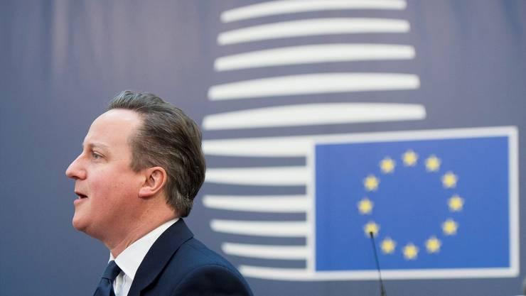 Grossbritanniens Premierminister David Cameron setzte seine EU-Kollegen in Brüssel heftig unter Druck.