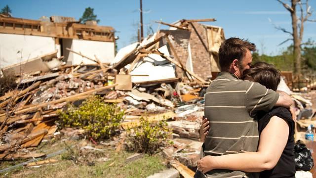 Zerstörtes Haus in North Carolina