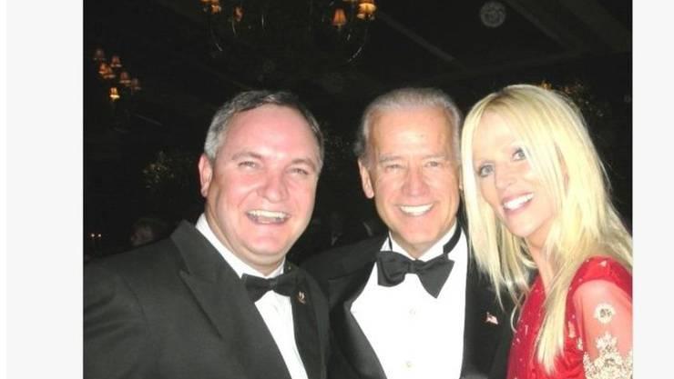 Vizepräsident Joe Biden mit dem schelmischen Paar