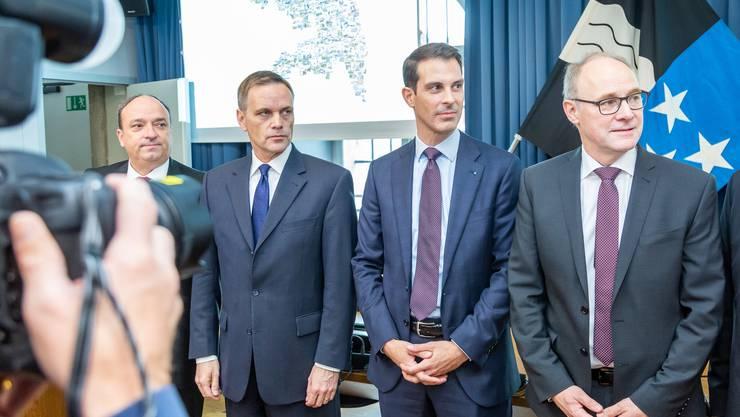 Die Rechten setzten sich durch: Jean-Pierre Gallati, Thierry Burkart, Hansjörg Knecht.