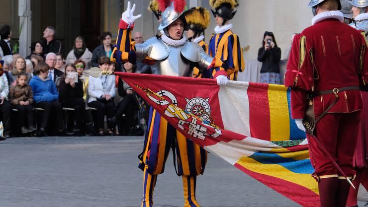 Die Schweizergarde in Rom – hier bei einer Vereidigung 2019 – hat bislang elf Coronafälle zu verzeichnen.