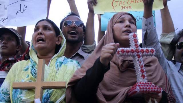 Angehörige der christlichen Minderheit in Pakistan