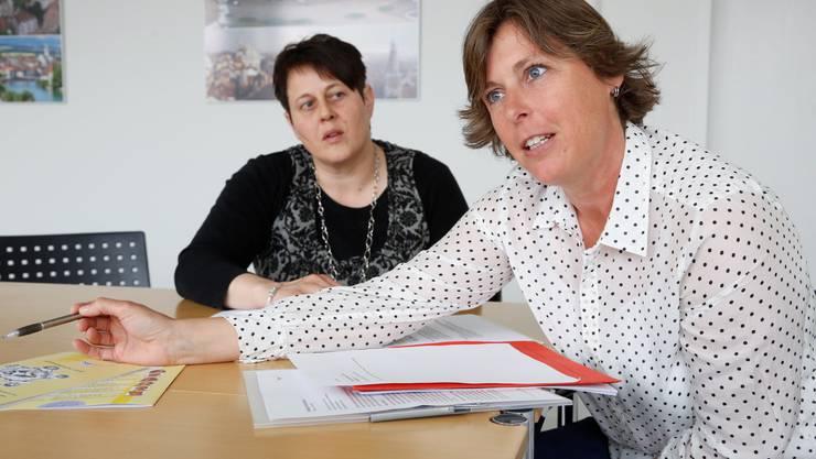 Engagiert: Heidi von Siebenthal (r., Geschäftsführerin EFG-ED) und Ruth Stampfli (Sekretariat).