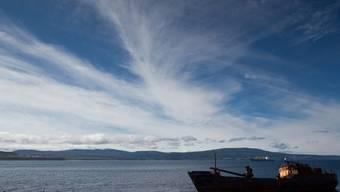 Ein Boot bei der zu den Kurilen gehörenden Insel Iturup (Archiv)