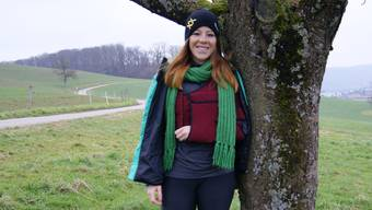 Skifahrerin Vanessa Utzinger in ihrer Heimat in Frenkendorf.