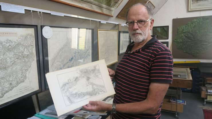 Hans Heinrich Bachofen sammelt seit seiner Kindheit Landkarten.