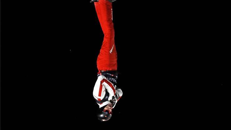 Nicolas Gygax im Sprung an den Freestyle-Weltmeisterschaften.