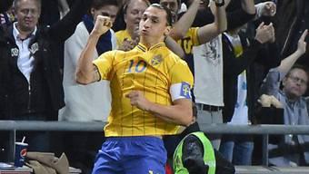 Zlatan Ibrahimovic vierfacher Torschütze gegen England.