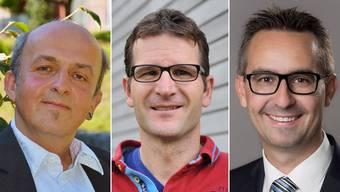 Die drei Kandidaten: Peter Kleiner (SP), Gregor Zimmermann (Grüne) und Christian Gamma (FDP).