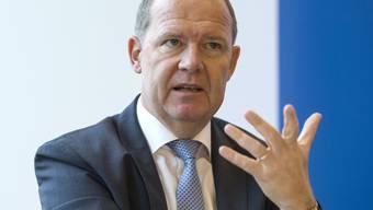 """""""Es muss möglichst schnell ein erster, mehrheitsfähiger Reformschritt gemacht werden"""", sagte SAV-Präsident Valentin Vogt am Donnerstag vor den Medien in Zürich.  (Archivbild)"""