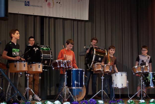 Schlagzeugensemble, Ltg M.Fässler  Fotos: KLF