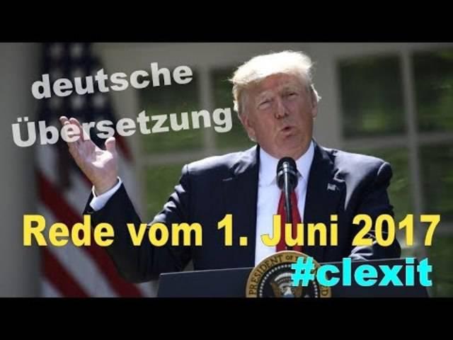 Donald Trump: Rede zum Ausstieg aus Pariser Klima-Abkommen