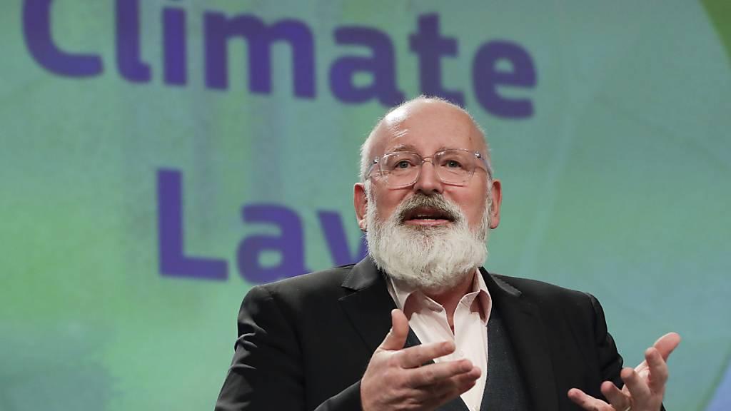 Timmermans: EU bleibt bei Zeitplan für neues Klimaziel