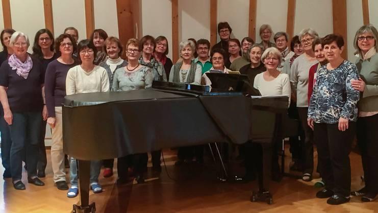 """Der Frauenchor Birmensdorf probte ein ganzes Wochenende  für das kommende Jubiläumskonzert  """"Thank you for the Music"""" 70 Jahre Frauenchor, vom  4.Februar 2018"""