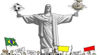Der Weltverband füllt die Kasse an der WM mit Milliarden, während das brasilianische Volk in die Röhre guckt.
