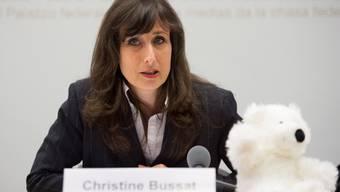 Initiantin Christine Bussat äussert sich zur Volksinitiative. Gian Ehrenzeller/KEY