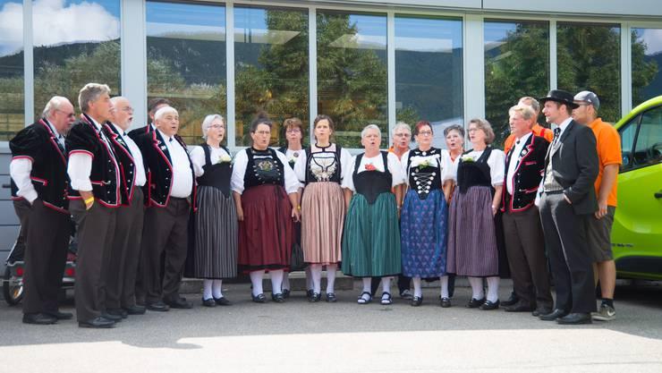 Der Jodlerclub Seerose aus Bellach feiert 75 Jahre. Ein Ständchen darf da natürlich nicht fehlen.