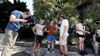 Zürcher Kreativszene setzte 24 Milliarden Franken um: Dreharbeiten zum Dokumentarfilm «Hosenlupf» mit Beat Schlatter (Juli 2010). Foto: ZVG