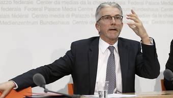 """Weko-Direktor Rafael Corazza während der Jahresmedienkonferenz: """"Es schadet dem Wettbewerb, wenn neue Geschäftsmodelle in alte, aber nicht passende Regulierungskorsetts gezwängt werden."""""""