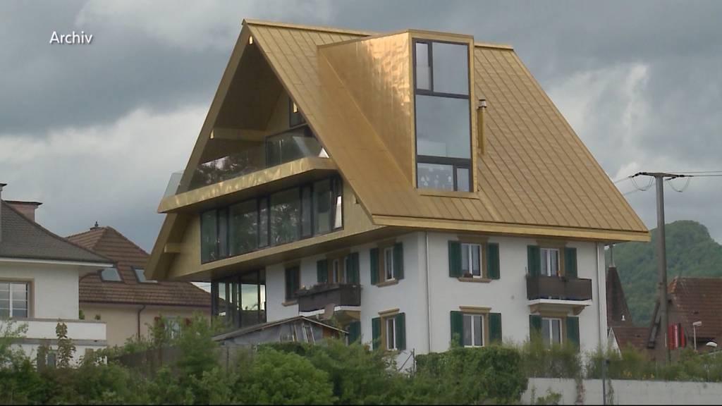 Olten: Goldenes Hausdach verliert seinen Glanz