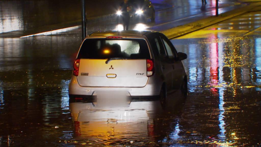 Rund 200 Notrufe wegen starken Regenfällen im Raum Frauenfeld (TG)