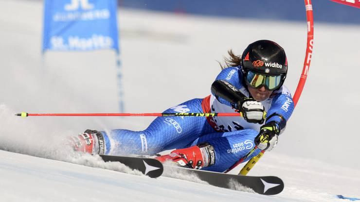 Die Italienerin Sofia Goggia ist nach dem ersten Lauf die erste Verfolgerin von Worley.