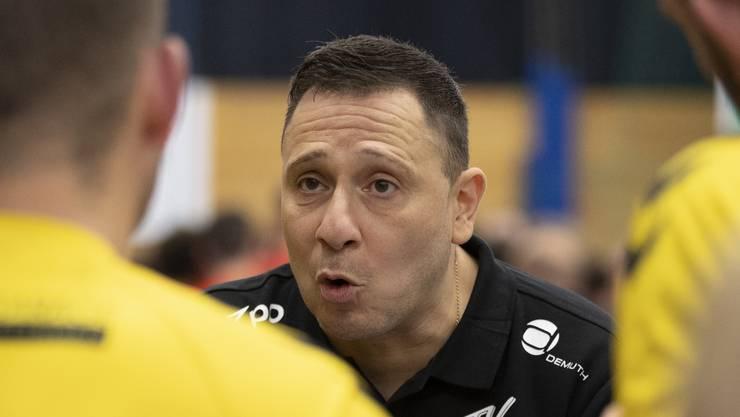 Die bitteren Niederlagen schmerzen ihn: TVE-Trainer Zoltan Majeri.