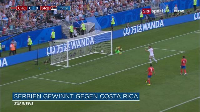 Serbien gewinnt 1:0 gegen Costa Rica