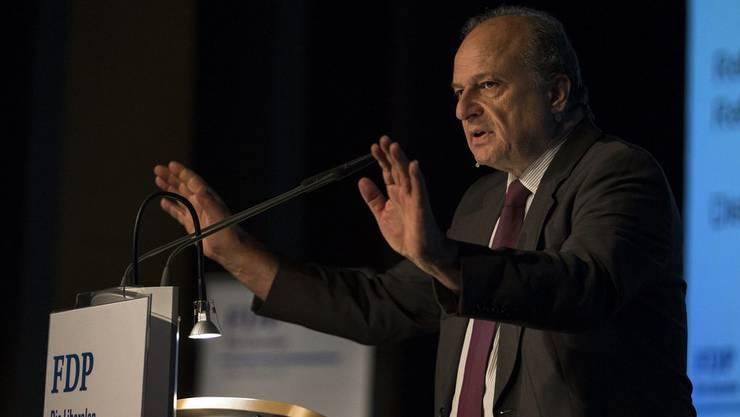 Bei der FDP zieht Stadtpräsidiumskandidat Filippo Leutenegger viel Aufmerksamkeit auf sich. (Archiv)