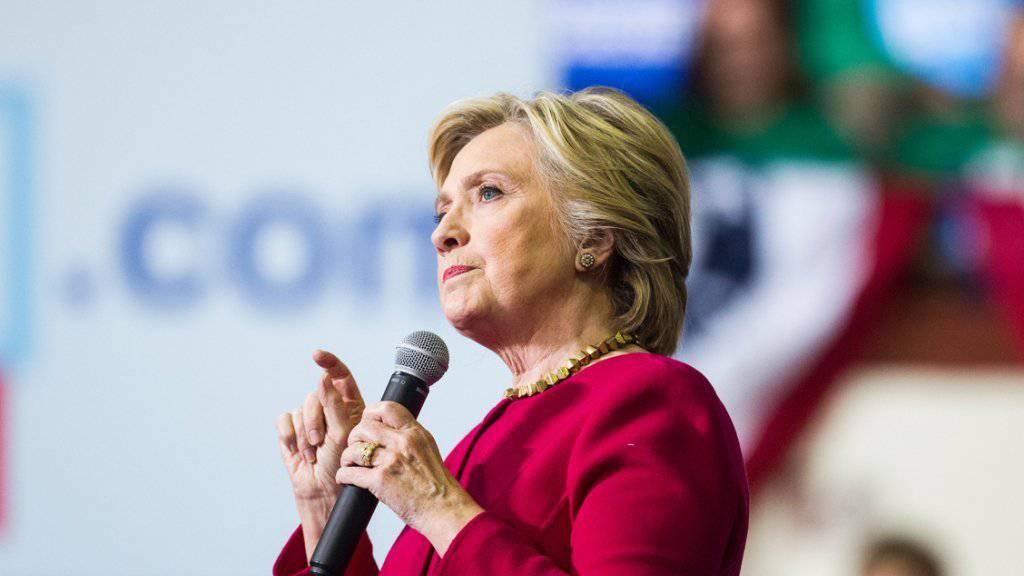 Hillary Clinton bei einem Wahlkampfauftritt in Pennsylvania.