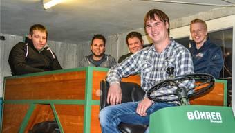 Die Gründungsmitglieder des Vereins Martin Zimmermann, Stefan Koch, Christian Keusch, Daniel Moser und Josef Frey. zvg