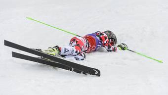 Anna Fenninger stürzte beim Training in Sölden und zog sich dabei eine schwere Knieverletzung zu.