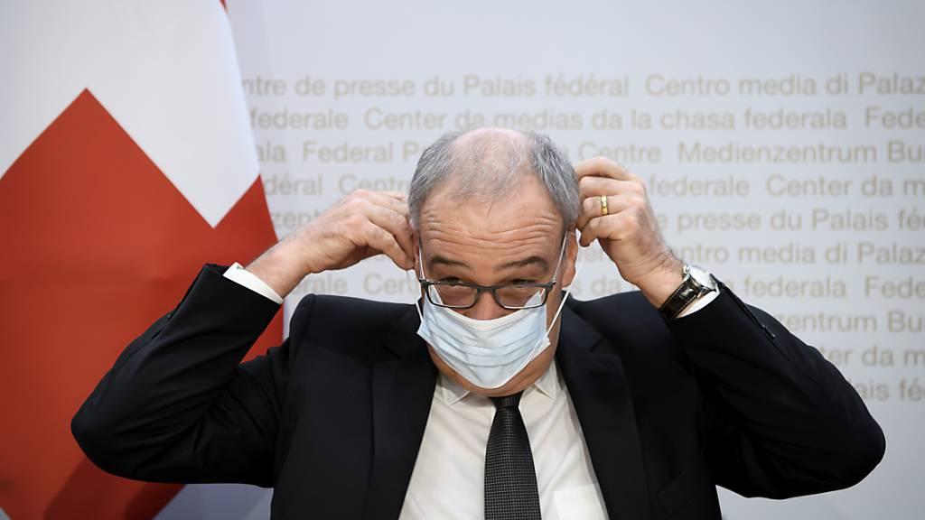 Musste nach einem London-Besuch zehn Tage in Quarantäne: Wirtschaftsminister Guy Parmelin. (Archivbild)