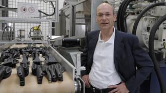 Kisag-Chef Urs Brüngger forciert die Produktion von Küchenhelfern aus Kunststoff