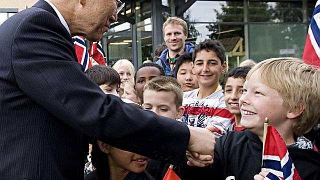 Ban begrüsst Kinder in Oslo